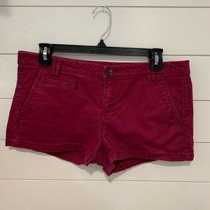 Express shorts, maroon